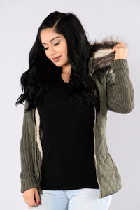Sometime Around Midnight Jacket - Olive