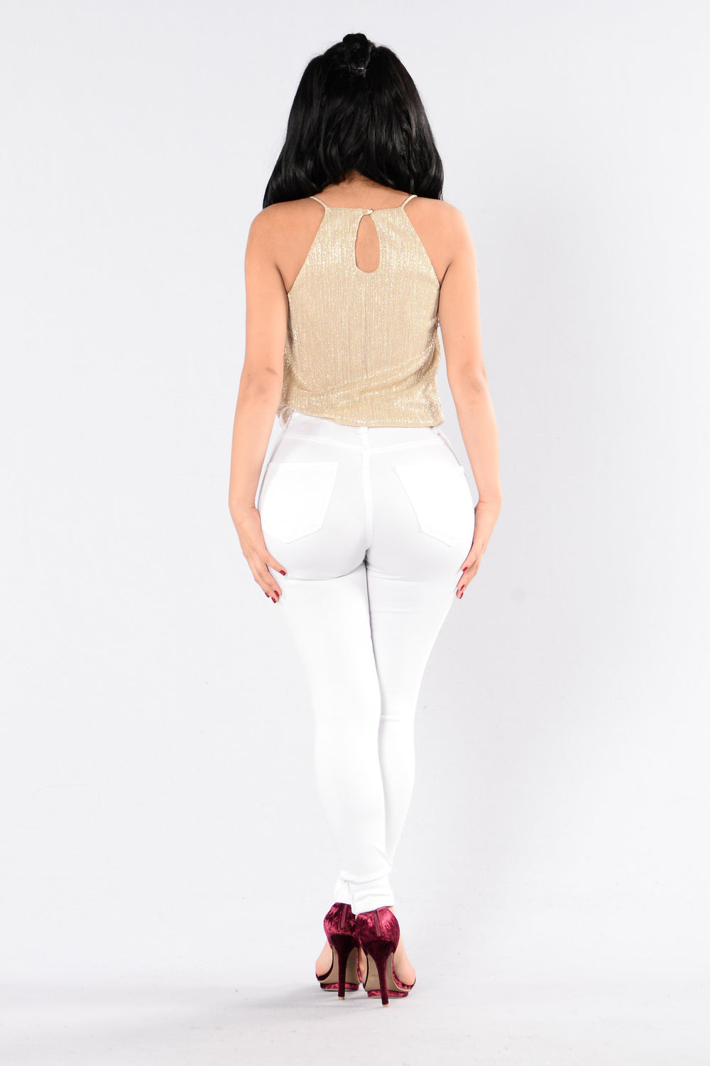 Burn It Up Bodysuit - Gold