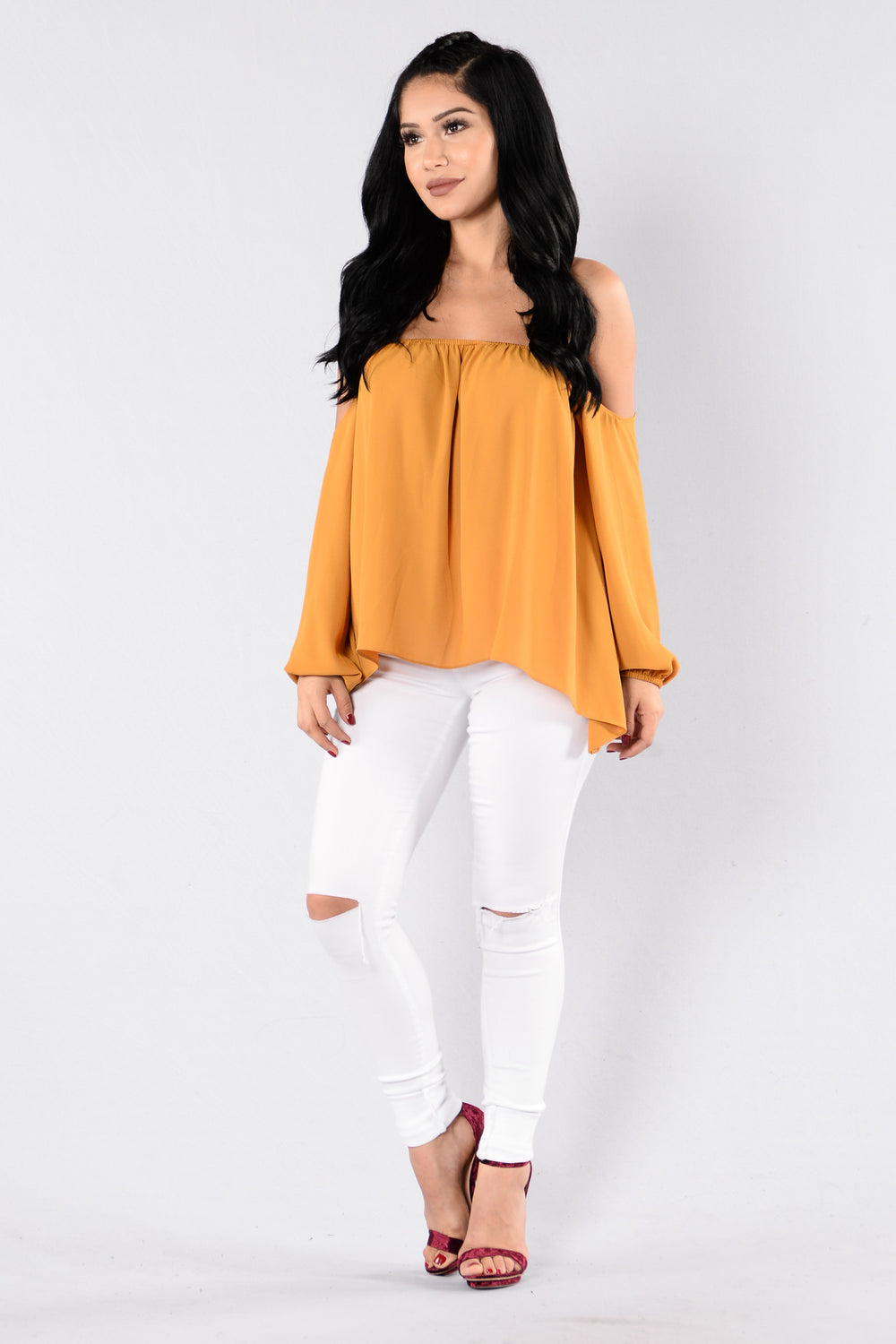 A Soft Touch Top - Mustard
