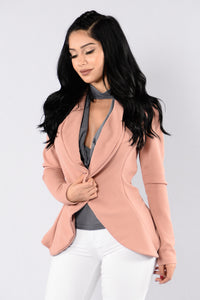 Meet And Greet Blazer - Mauve Angle 2