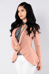 Meet And Greet Blazer - Mauve