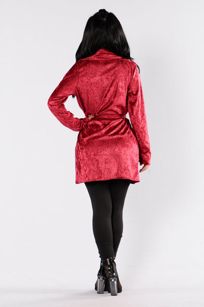 Sweet Whisper Duster Jacket - Wine