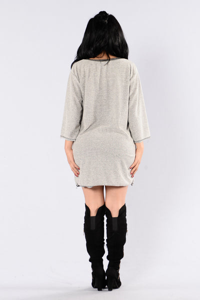 On For My City Tunic - Grey