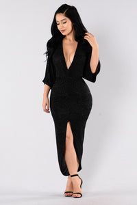 Come To Me Dress - Black Angle 1