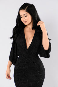 Come To Me Dress - Black Angle 4