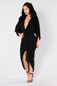 Come To Me Dress - Black Angle 3