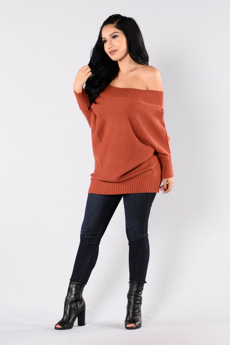 Jolene Sweater - Brick