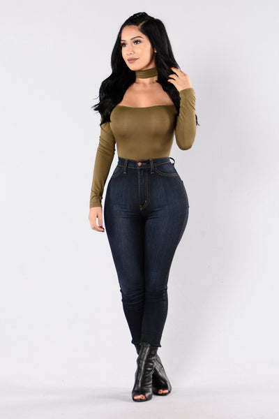 Shut Up and Dance Bodysuit - Olive