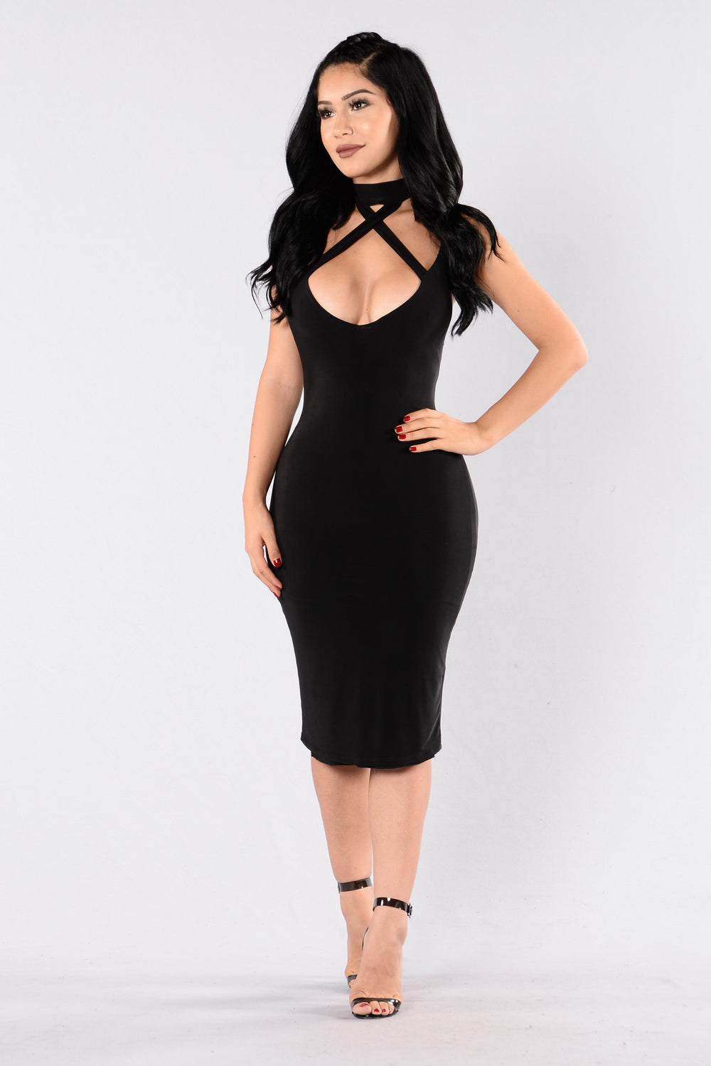 Lips Are Sealed Dress - Black