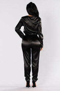 Nothing Stopping Me Jumpsuit - Black