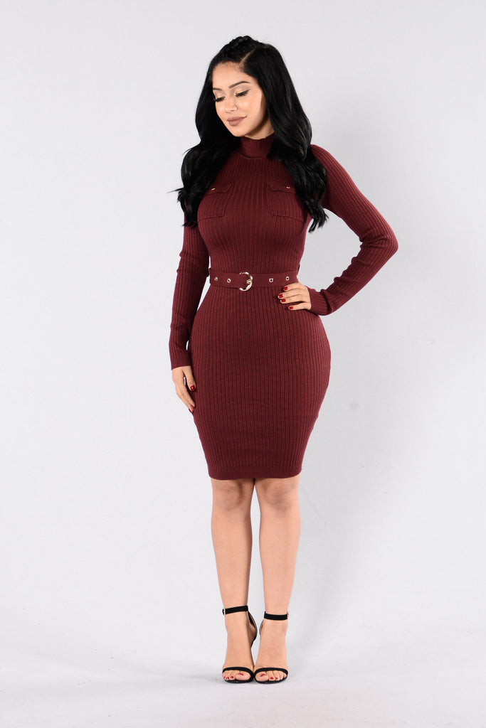 Urban Classic Dress - Wine