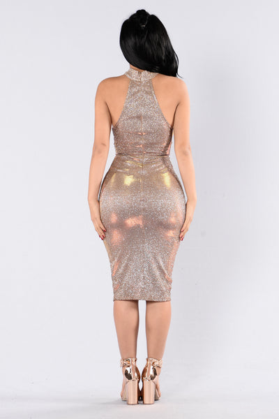 Fallen Star Dress - Bronze