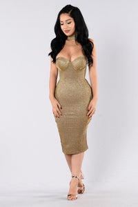 Fallen Star Dress - Gold