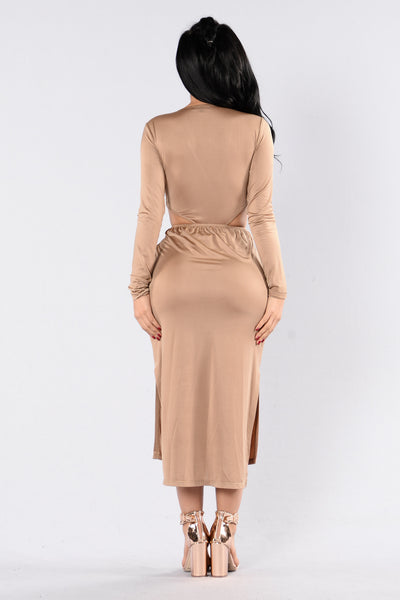Heaven Must Have Sent You Dress - Taupe