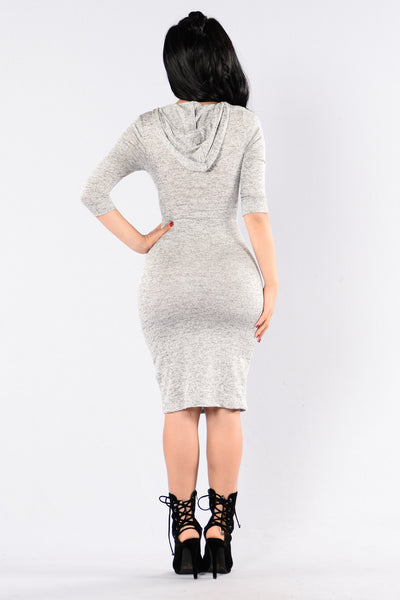 Please Mister Postman Dress - Grey