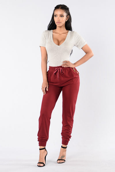Always Something Pants - Burgundy
