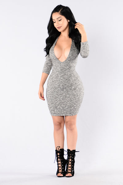 Someone I Used To Know Dress - Heather Grey