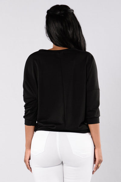 One Of These Nights Sweater - Black