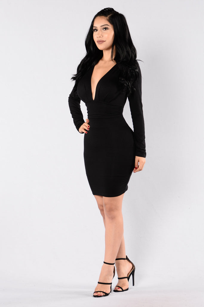Good Vibrations Dress - Black