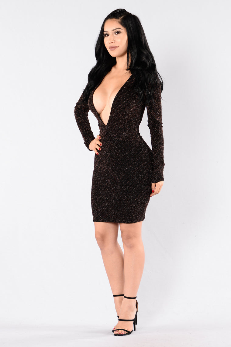 Need It All Dress - Bronze