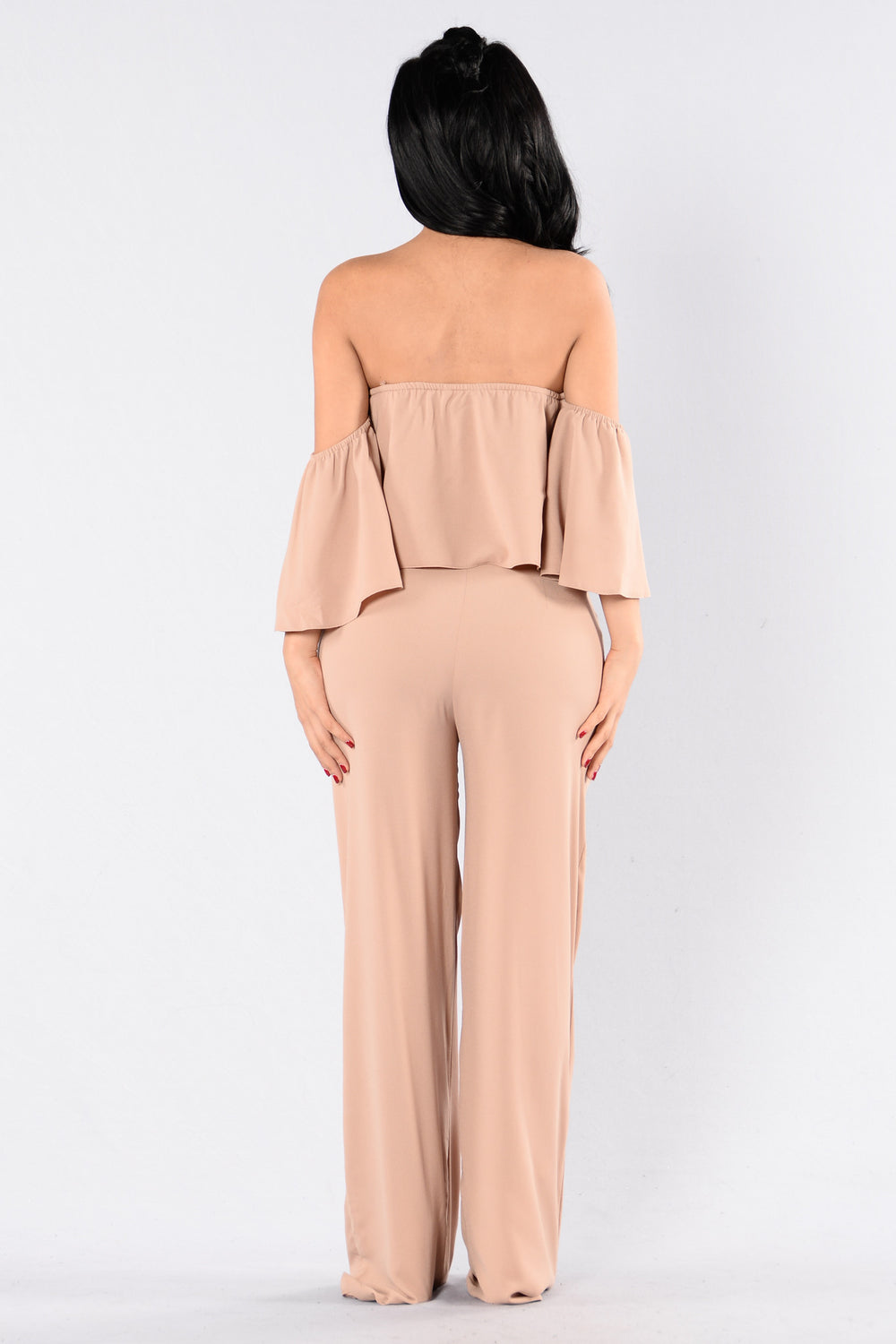 Going Through Changes Jumpsuit - Taupe