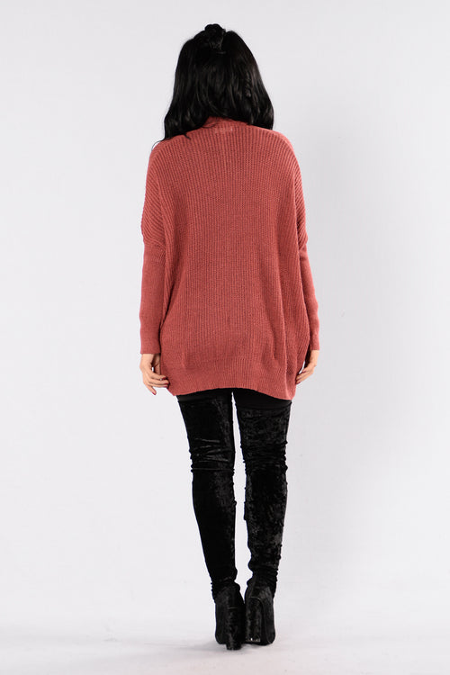 Take Me Home Cardigan - Marsala