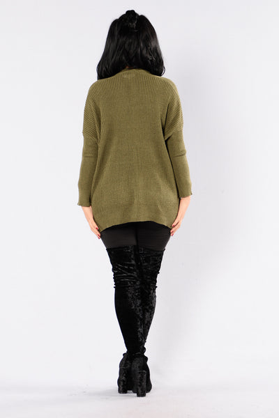 Take Me Home Cardigan - Olive