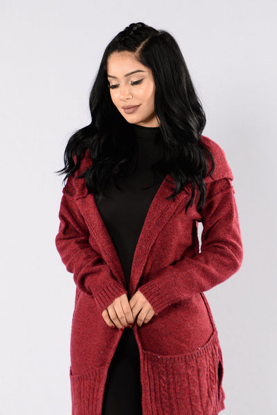 Seasonal Change Sweater - Burgundy
