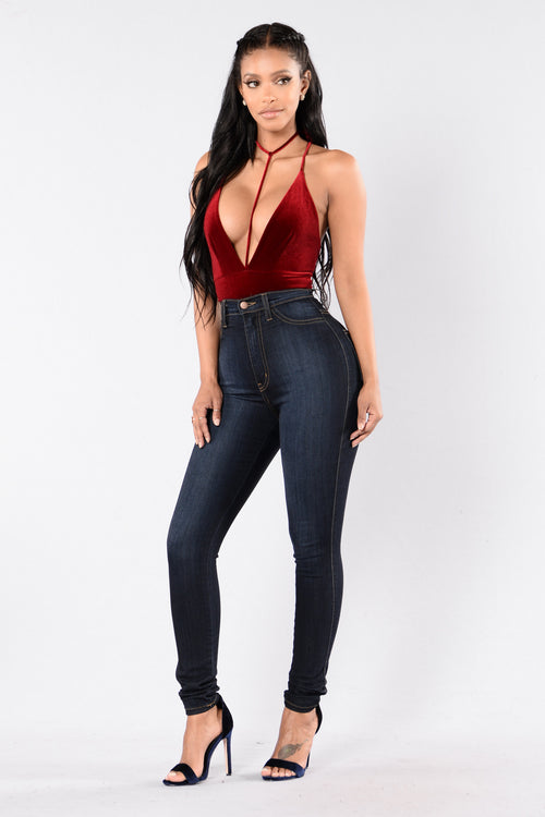 Distract Me Bodysuit - Burgundy
