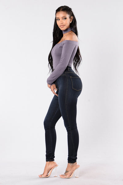 Brush It Off Bodysuit - Purple