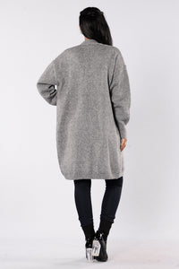 Love Hurts Cardigan - Heather Grey