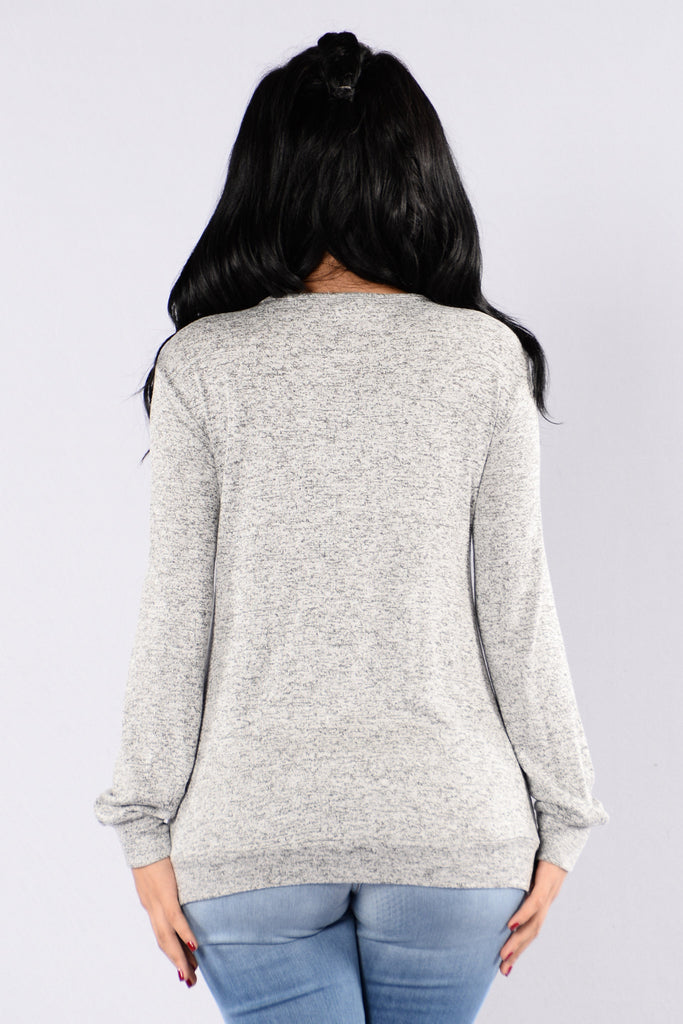 Cabin Weather Top - Heather Grey