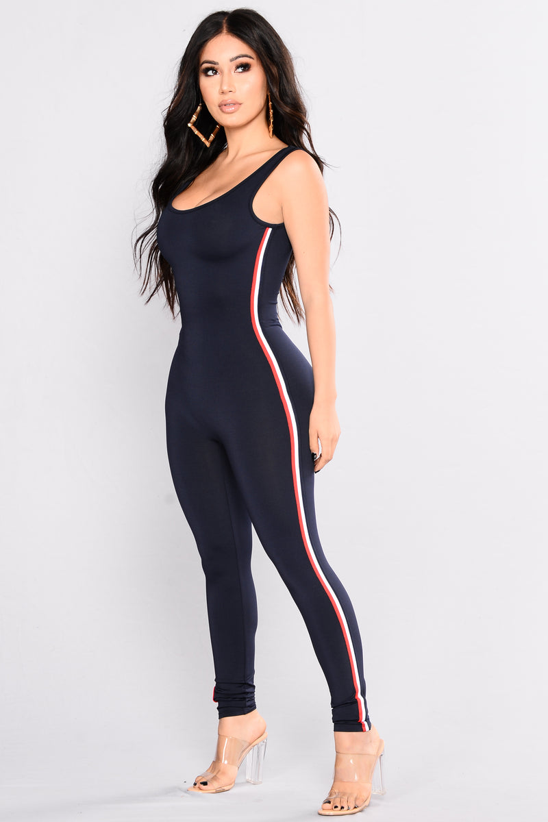 Running 1000 Miles Jumpsuit - Navy
