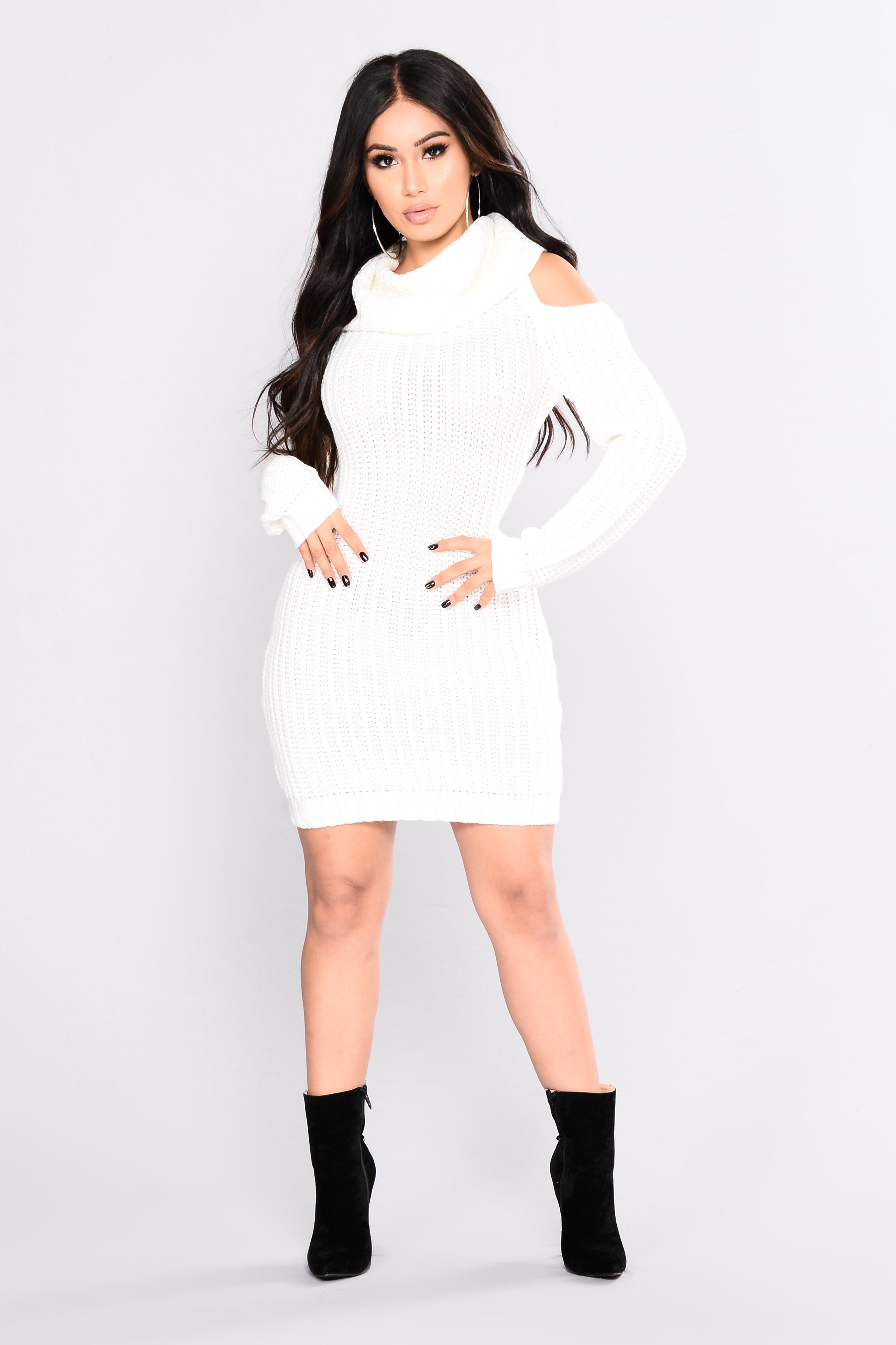 Thea Sweater Dress - Off White d17979409