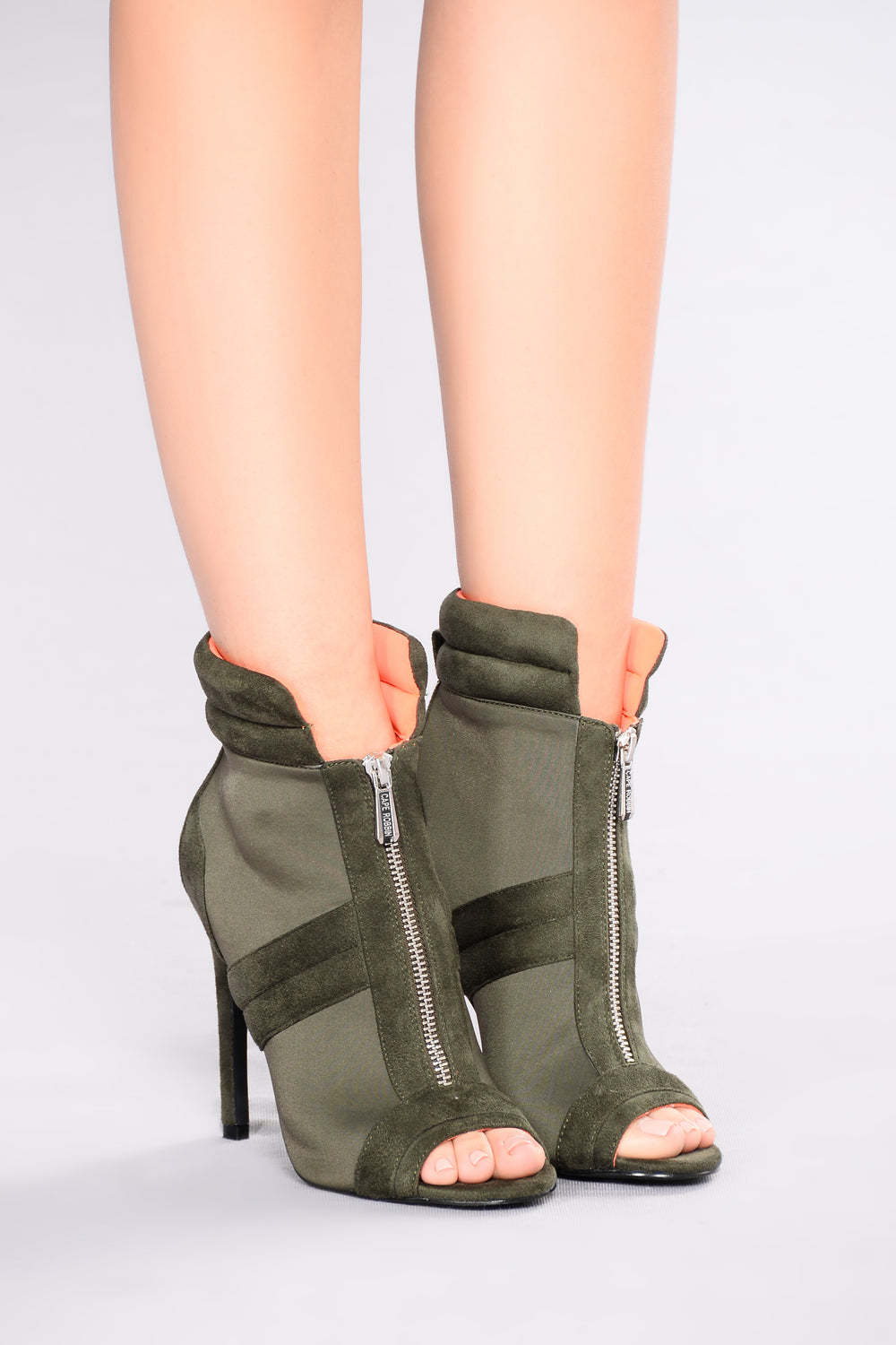 I Could Be Prosueded Bootie - Olive