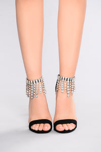 Raining Gems Heel - Black