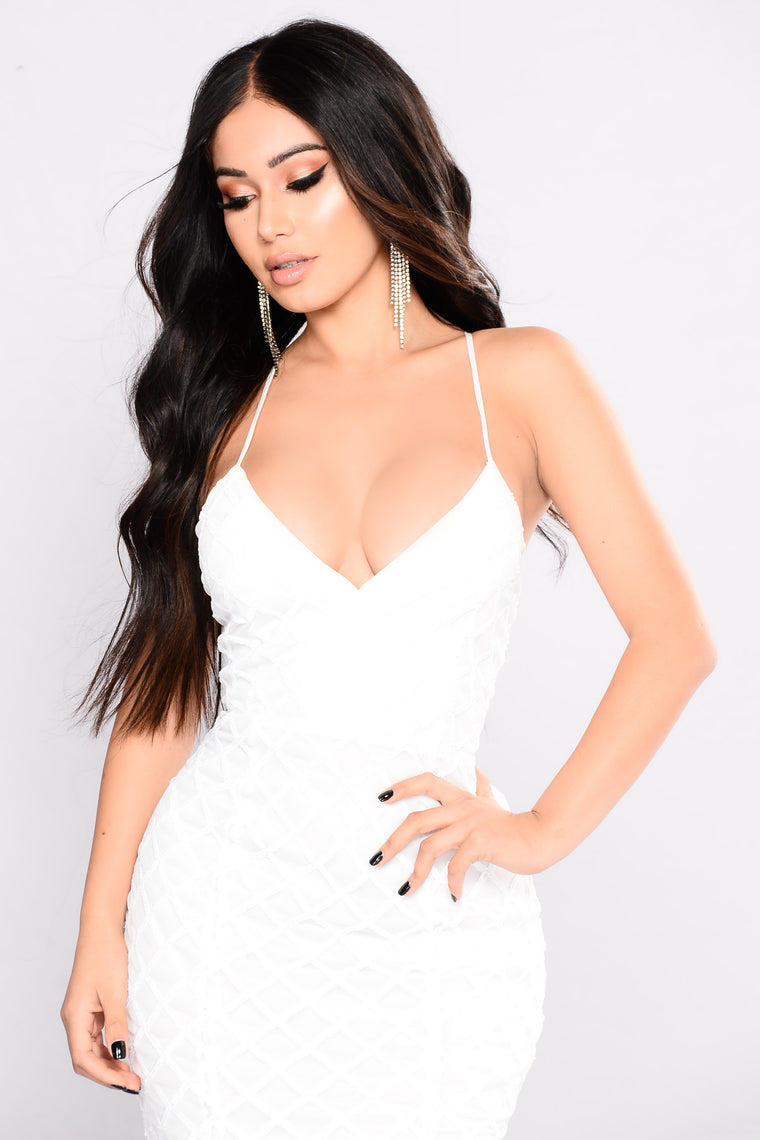 Midnight Caller Maxi Dress - White