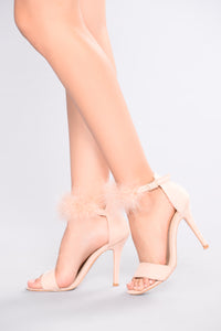 Sheba Feather Heel - Blush