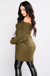 You're The One Oversized Sweater - Olive
