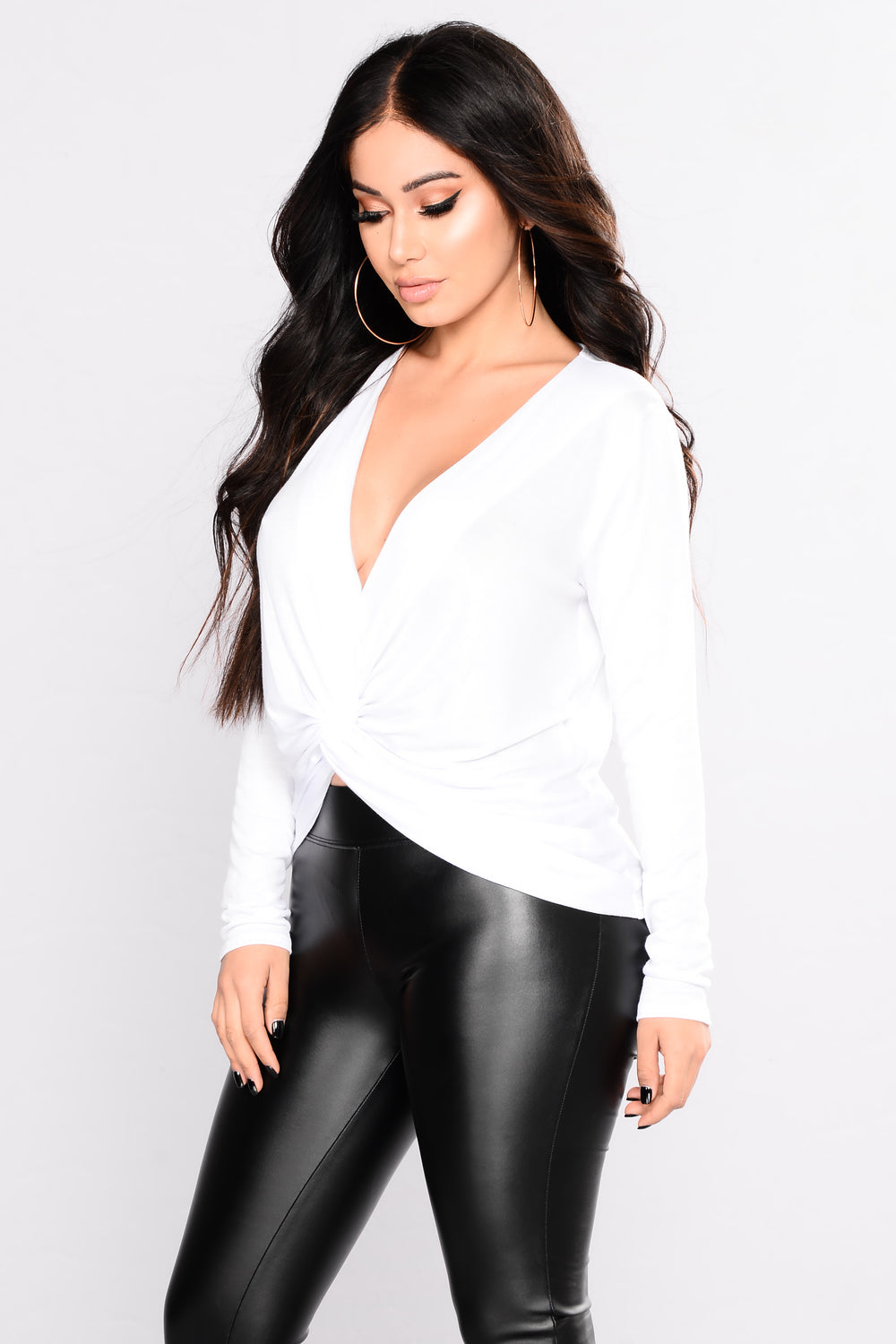 Angelie Knot Top - White
