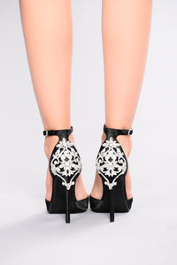Aleema Jeweled Heel - Black Angle 2