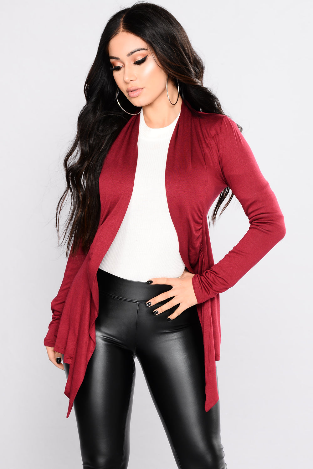 Official Girl Cardigan - Burgundy