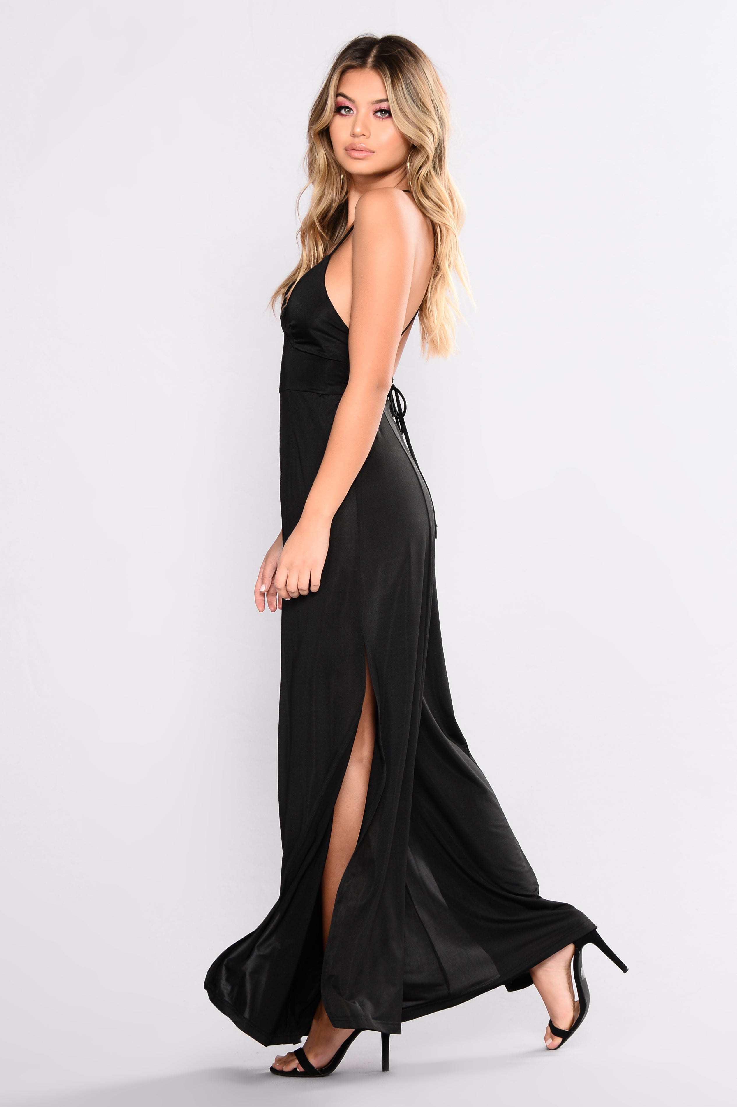 4874a231cb53 Straight From The Heart Slit Leg Jumpsuit - Black
