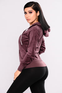 New School Velour Jacket - Vintage Violet