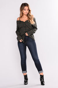 Oh No Doubt About It Plaid Top - Hunter