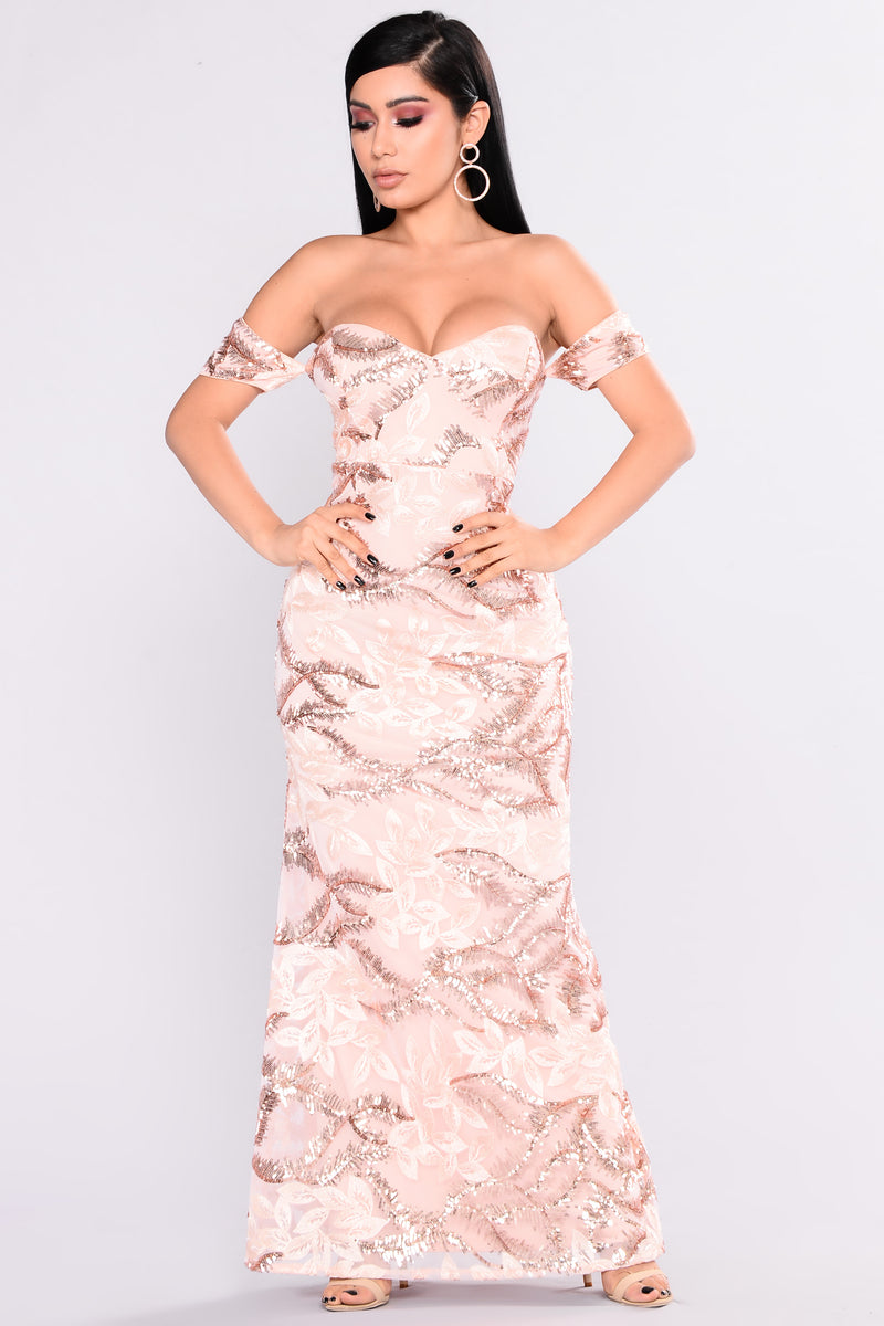 Revelry Sequin Dress - Rose Gold