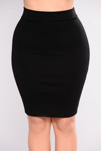 Made You Look Ponte Skirt - Black