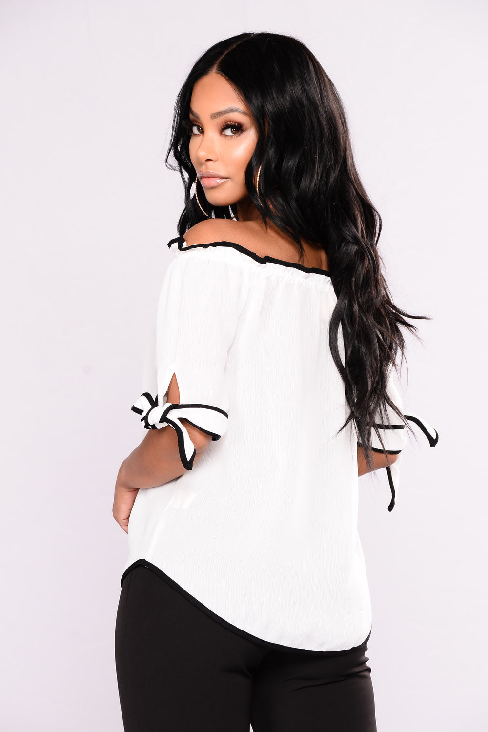 Better Than Before Off Shoulder Top - Ivory