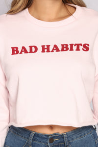Bad Habits Sweatshirt - Mauve