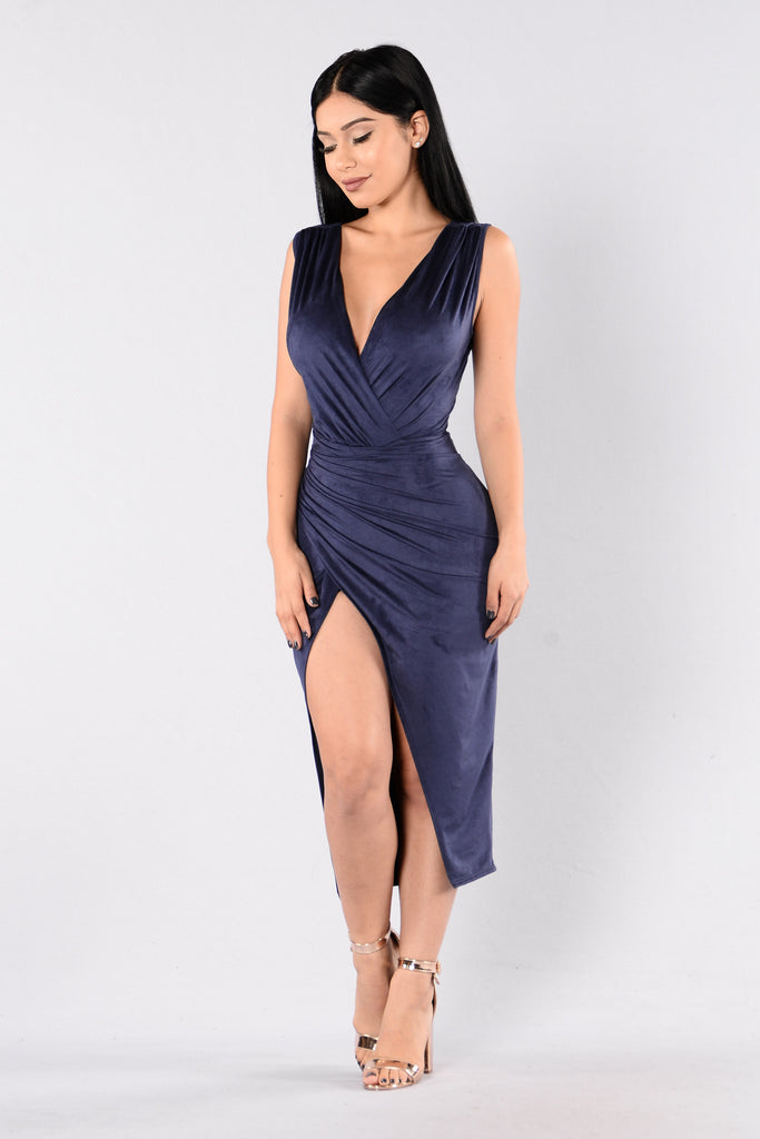 Nature Made Dress - Navy